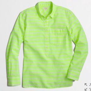 J.Crew Neon Yellow Perfect Shirt